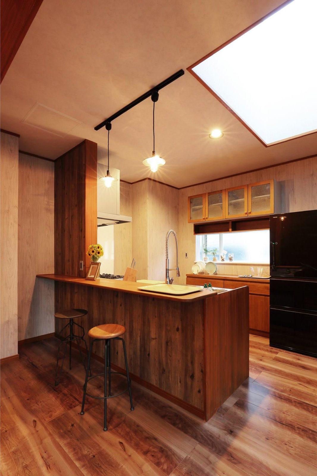 【キッチン】ウッドワンシステムキッチン