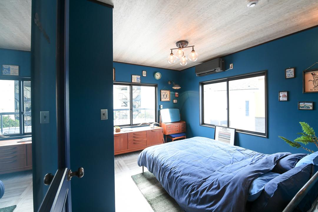 ミッドセンチュリースタイルの寝室